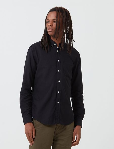 Portuguese Flannel Belavista Shirt - Black