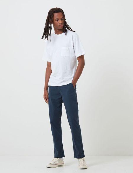 Portuguese Flannel Labura Trousers - Navy Blue