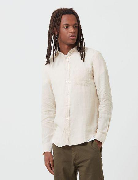 Portuguese Flannel Linen Shirt - Ecru
