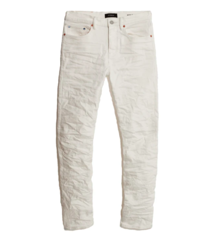 Purple Brand Low Rise Slim Leg Jeans - White Wash