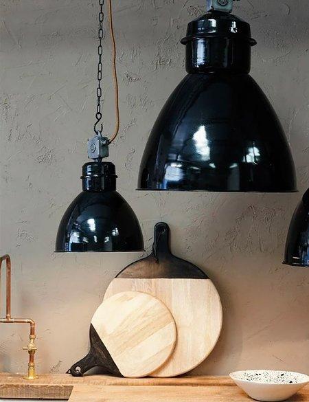 Nkuku Okello Medium Industrial Pendant Light - Black