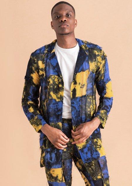 Bloke Chiffon Grid Dyed Shirt