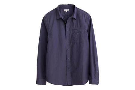 Alex Mill Snap Button Standard Shirt - Navy