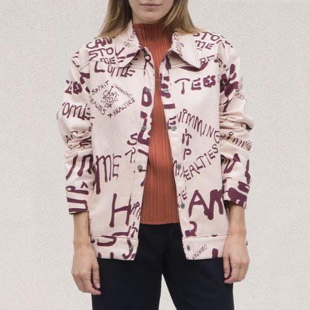 Come Tees Snap Denim Jacket - Pink