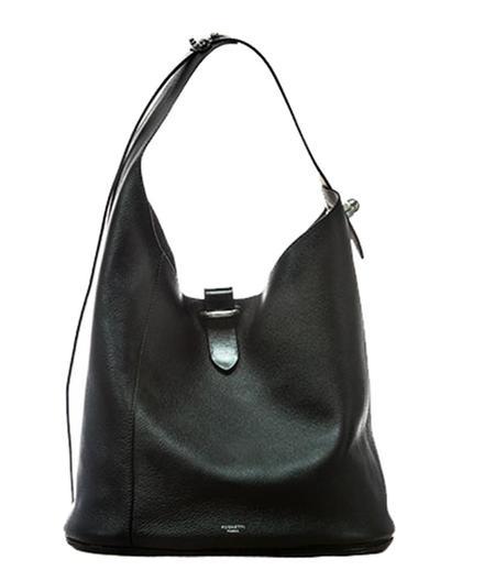 Pugnetti Parma Leather Shoulder Bag - Black
