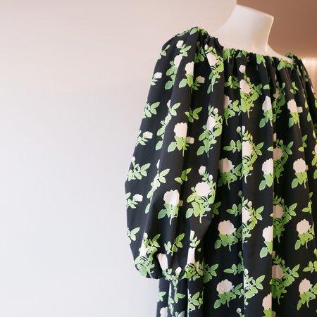 BERNADETTE Bobby Cotton Poplin Dress - Black