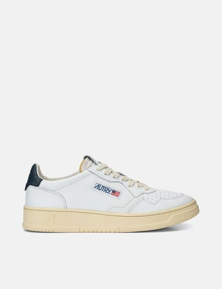 Autry Medalist LL12 Leather Trainers SHOES - White/Navy