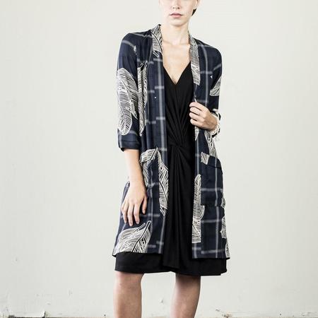 Jude Clothing Sayulita Jacket - Navy/Cream Tropical Print