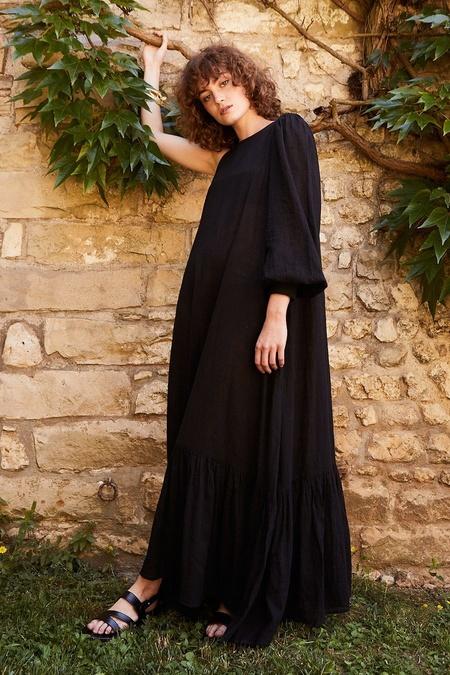 Laurence Bras Rose Single Sleeve Maxi - Black