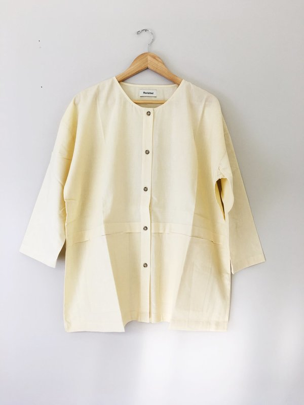 Revisited Matters Cropped Raincoat Cream