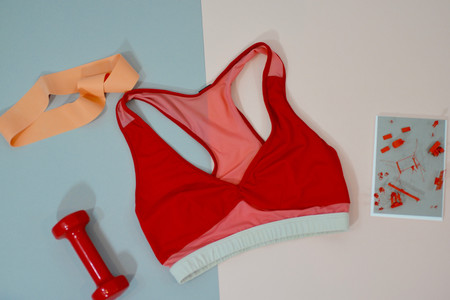 VPL Trapeze Bra Top: Fiery Red