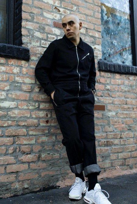 L.F.Markey Chatsbury Boilersuit - Black Cotton