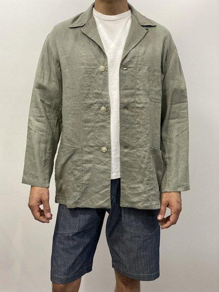 Unisex Monitaly Linen Italian Jail Jacket - Sage