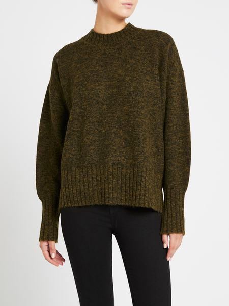 Camilla and Marc Murphey Knit Top - Khaki Marle