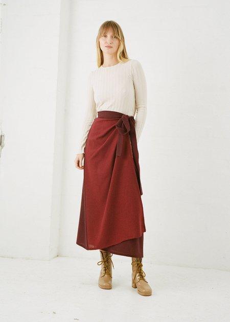 FME Apparel Duet Wrap Skirt - Plum/Sangria
