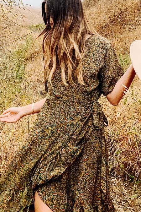 Karma Highway Beth Mini Wrap Dress - Garden Floral