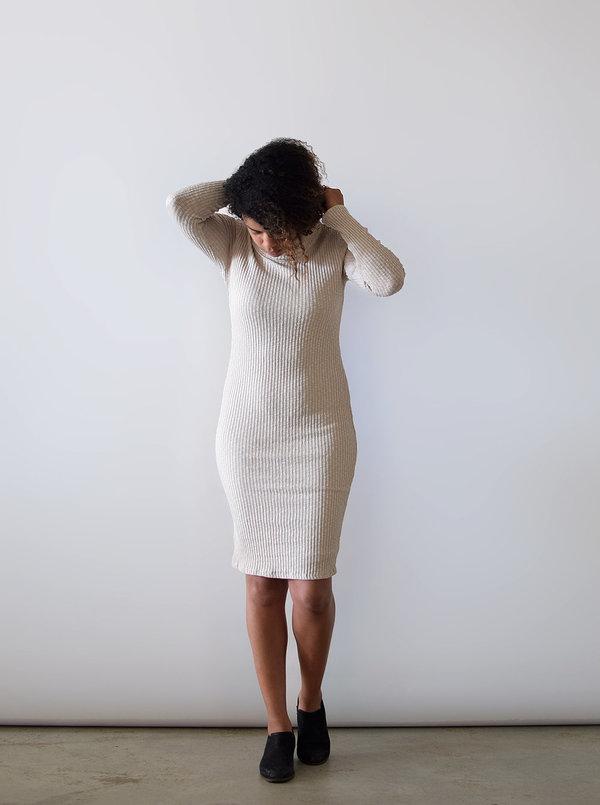 Lush Ribbed Turtleneck Dress