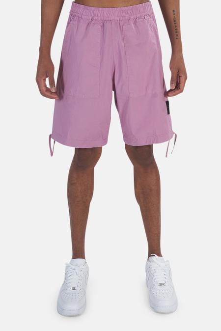 Stone Island Stretch Cotton Shorts - Pink quartz