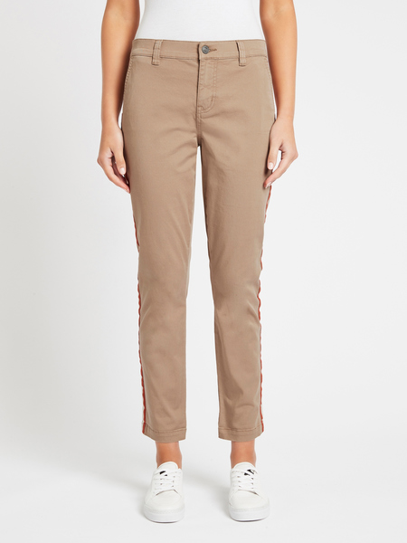 Current Elliott The Side Stripe Confidant Pant - Beechwood