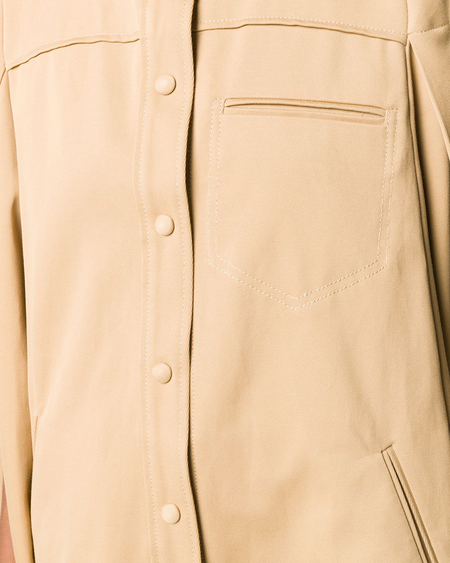 Courrèges Cut-Out Sleeve Flared Coat - Camel Brown