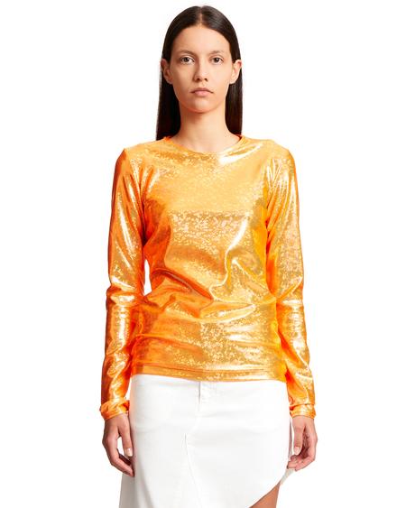 Saks Potts Saya Shimmer Blouse - Orange