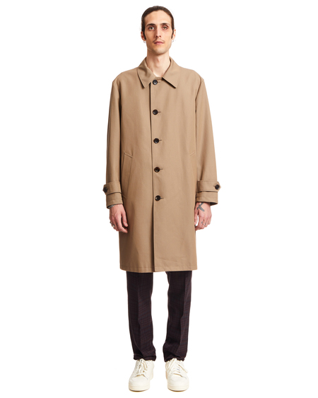 Wacko Maria Bal Collar Cotton Coat - Beige