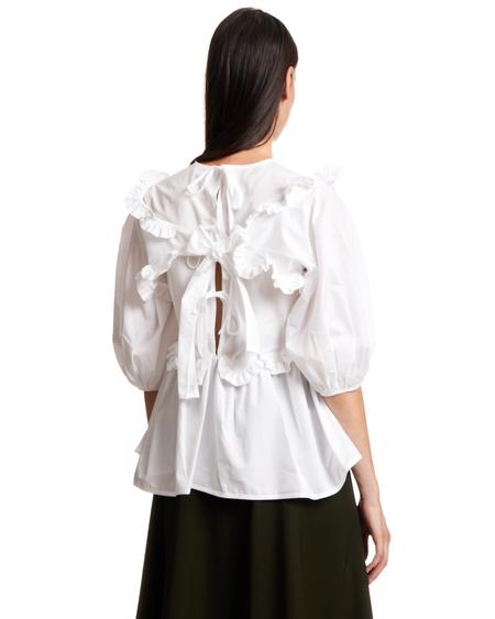 Cecilie Bahnsen Marie Ruffled Cotton Blouse - White