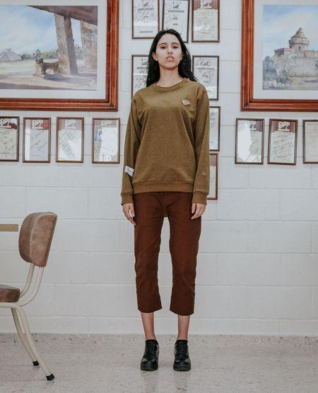 MERMANEGRA Brick Sweater - Brown