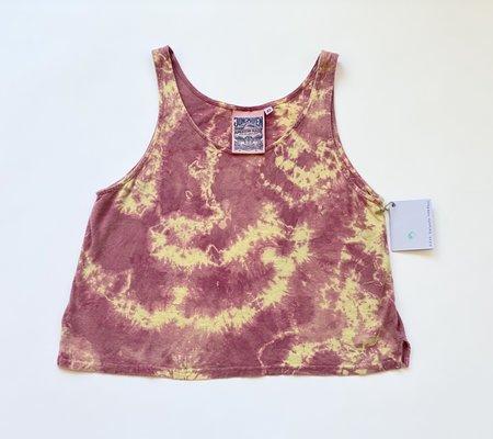 Alexa Yurianna Anderson Tie Dye Crop Tank - Pink