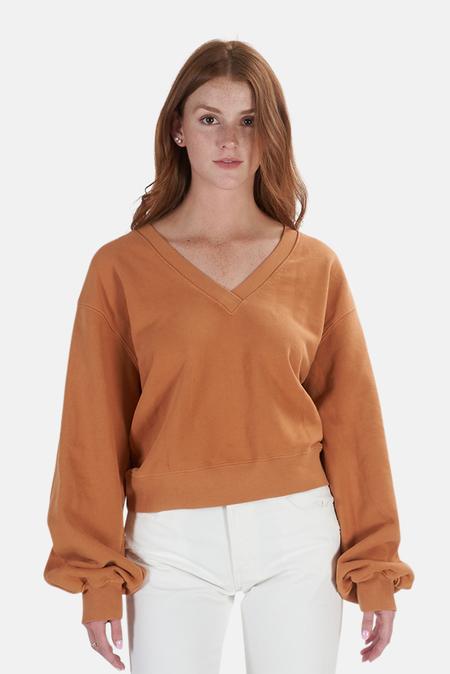 AGOLDE Balloon Sweatshirt Sweater - Umber