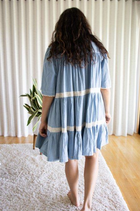 Manoush Robe Babydoll - Chambray Light Blue