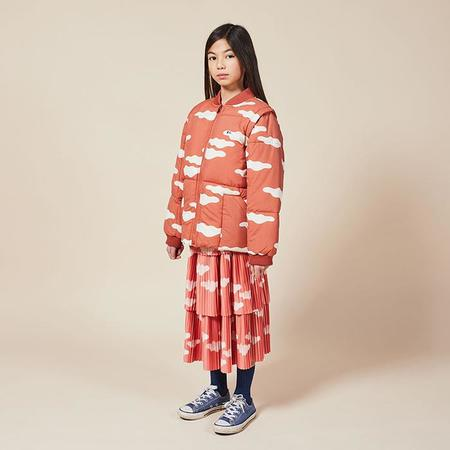 Kids Bobo Choses Coat With All Over Clouds Print - Brown