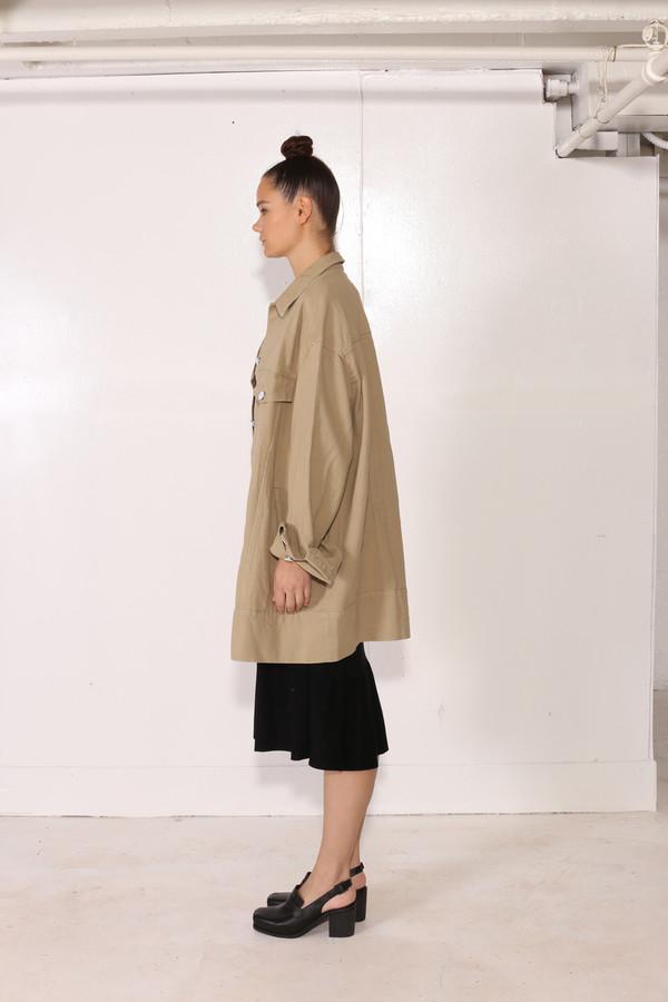 Intentionally Blank MOSS JACKET Khaki