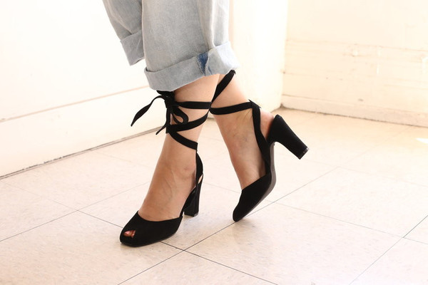 Intentionally Blank ROSE Black Suede