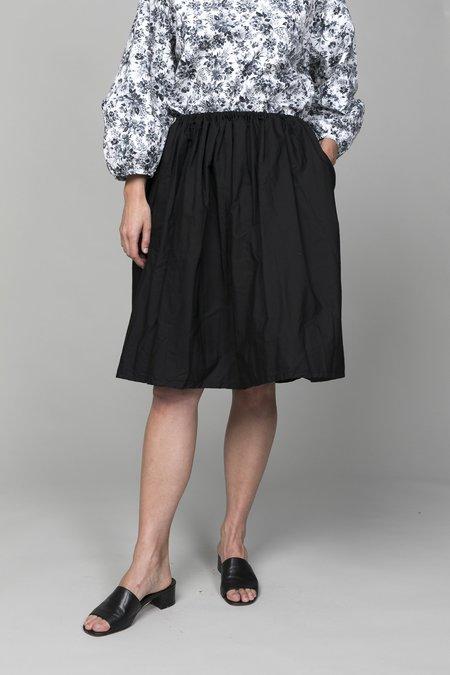 Verdalina Gathered Skirt - Black