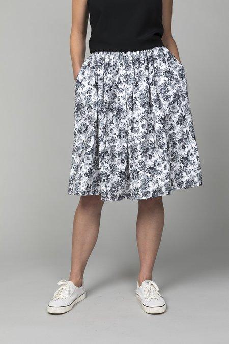 Pipsqueak Chapeau Gathered Skirt - Black Floral