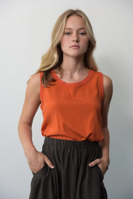Kristensen du Nord  Silk/Cotton Tank - Orange
