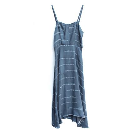 Della Grey Striped Ballerina Dress
