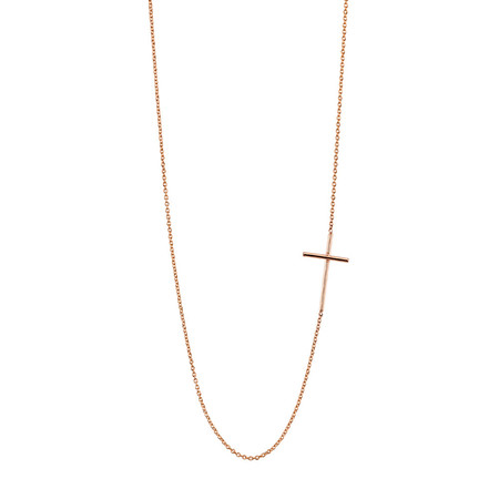 Gabriela Artigas Compass Necklace in Rose Gold