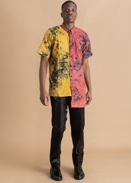 Bloke Two-Tone Asymmetrical Shirt