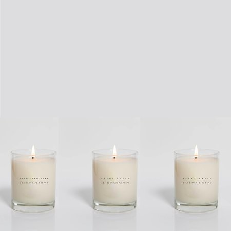 HNDSM Set of 3 Candles New York, Tokyo, Paris