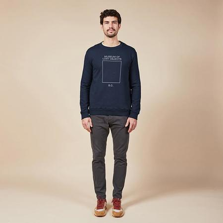 Unisex Bobo Choses Sweatshirt With Museum Of Lost Objects Print - Navy Blue