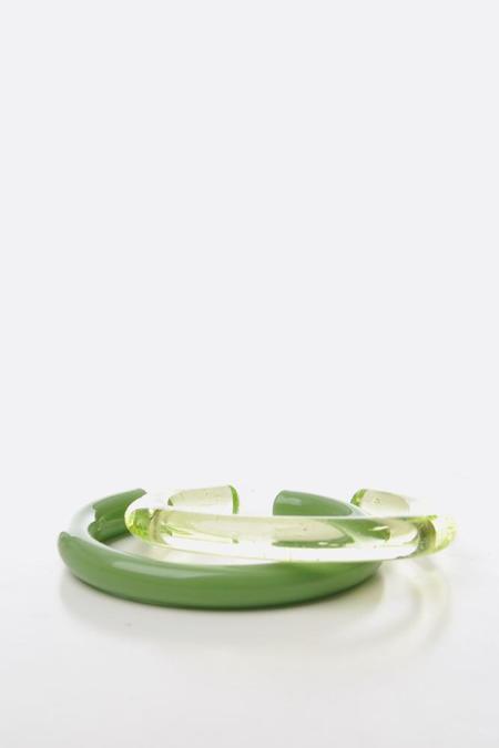 Keane Green Glass Cuff