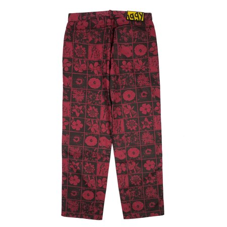 Iggy Nyc Denim Flowers Pants - Red