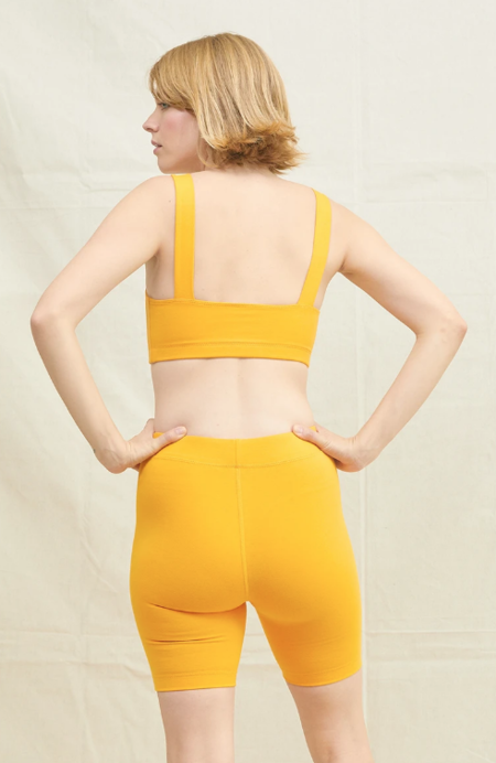 BACK BEAT RAGS Organic Cotton Bike Shorts - Saffron