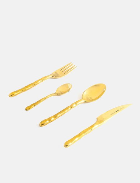 Seletti Fingers Cutlery Set - Brass