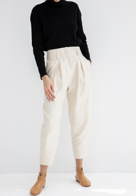 No.6 Store Hollis Linen Pant - Natural