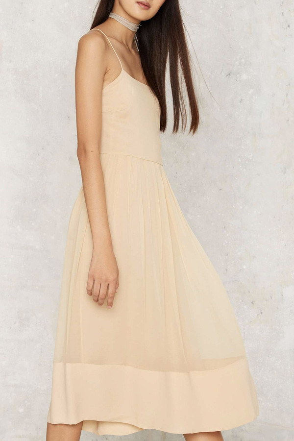 Vintage Chloe Nude Silk Dress