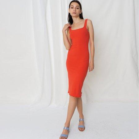 Poketo Ribbed Tank Dress - Red