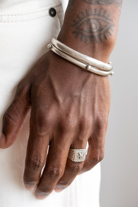VINTAGE LARGE ETHIOPIAN COIN CUFF - SILVER